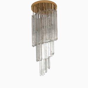 Lámpara de techo en espiral de Mazzega, años 70