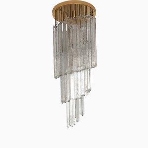 Spirale Deckenlampe von Mazzega, 1970er