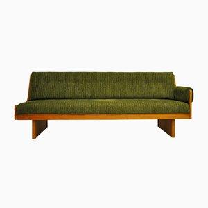 Sofá cama sueco de teca, años 50