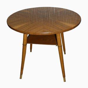 Mesa de cóctel Mid-Century redonda de formica, años 60