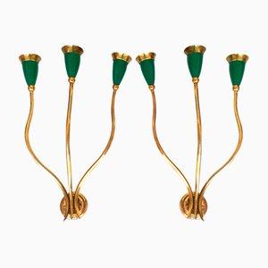 Italienische Vintage Wandlampen, 2er Set