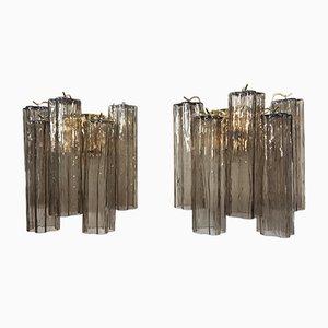 68f8f554d57 Apliques de pared Tronchi de cristal de Murano de Italian Light Design.  Juego de 2