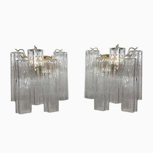 Apliques Tronchi de cristal de Murano de Italian light design. Juego de 2