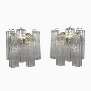 Murano Glass Tronchi Wall Sconces from Italian light design, Set of 2