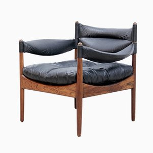 Rosewood Modus Lounge Chair by Kristian Vedel for Søren Wiladsen, 1960s