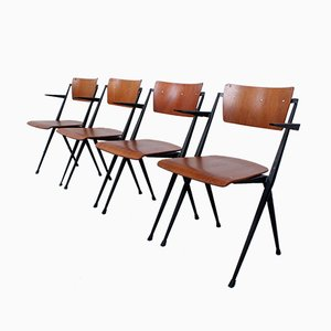 Compass Pyramid Chairs by Wim Rietveld for Ahrend De Cirkel, 1964, Set of 4