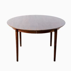Round Model 204 Rosewood Dining Table by Arne Vodder for Sibast, 1960s