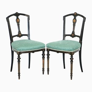 Ebonised Side Chairs from Gillows Lancaster, 1870s, Set of 2