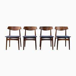 Dänische Esszimmerstühle aus Palisander, 1960er, 4er Set