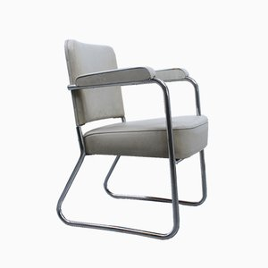 Vintage Bauhaus Chrome Tubular Steel Chair, 1930s