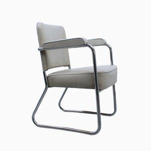 Vintage Bauhaus-Stuhl aus verchromtem Stahlrohr, 1930er