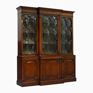 Antique Georgian Cabinet with Domed Glazed Breakfront