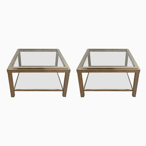 Tables d'Appoint en Chrome, 1970s, Set de 2