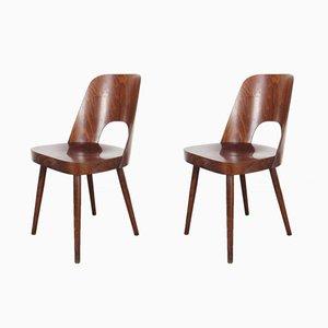 Esszimmerstühle von Oswald Haerdtl, 1950er, 2er Set