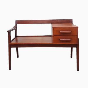 Teak Bench with Drawers, 1970s