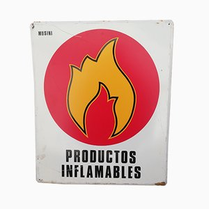 Insegna Productos Inflamables, anni '70