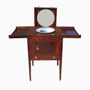 Antique Empire Mahogany Boat Dressing Table