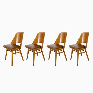 Vintage Dining Chairs, 1960s, Set of 4