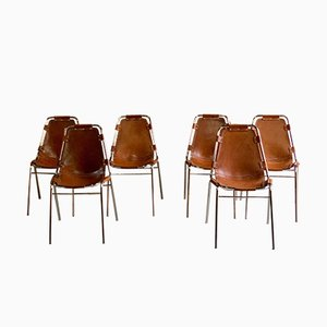 Les Arcs Dining Chairs by Charlotte Perriand for Cassina, 1970s, Set of 6