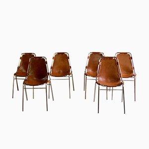 Les Arcs Esszimmerstühle von Charlotte Perriand für Cassina, 1970er, 6er Set