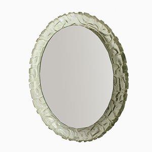 Espejo vintage oval iluminado de Hofmann, años 60