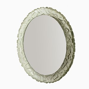 Vintage Illuminated Oval Mirror from Hofmann, 1960s
