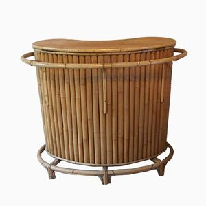 Bar Mid-Century de bambú