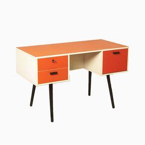 Dutch Red & Orange Desk, 1970s