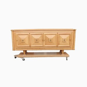 Oak Art Deco Sideboard by Gaston Poisson, 1940s