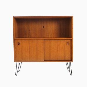 Danish Teak Bookcase Cabinet, 1960s