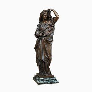 Estatua de mujer de bronce de Albert-Ernest Carrier-Belleuse, siglo XIX