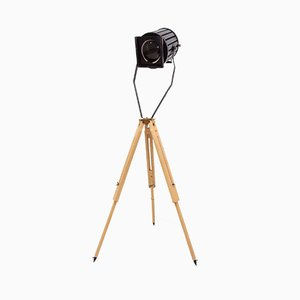 Industrial Spot Light Tripod Floor Lamp, 1960s