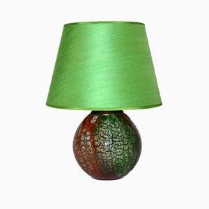 Lámpara de mesa alemana de vidrio multicolor de WMF, años 40