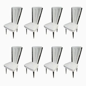 Vintage Stühle mit Gestell aus Palisander & Bezug aus Skai von Robustar, 1950er, 8er Set