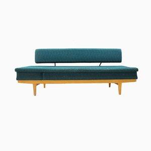 Sofá cama alemán Mid-Century con respaldo ajustable y extraíble, años 50