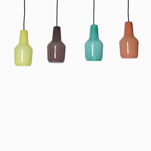 Murano Glass Pendants by Massimo Vignelli for Venini, 1958, Set of 4