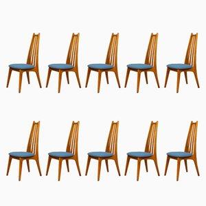 Stühle von Edmund Homa, 1960er, Set of 10