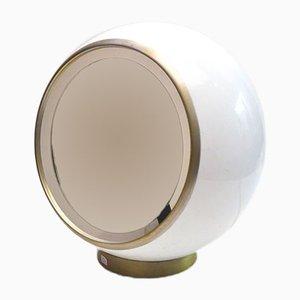 Lámpara de mesa era espacial de plexiglás y espejo, años 70