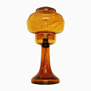 Art Deco Blown Glass Table Lamp, 1920s