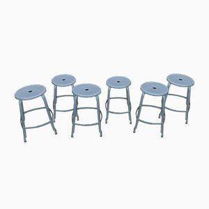 Vintage Industrial Stools from Nicole, 1950s, Set of 6