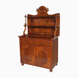 Aparador Biedermeier de nogal con estantería, siglo XIX