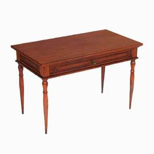 Neoclassic Walnut Coffee Table with Drawer, 1920s