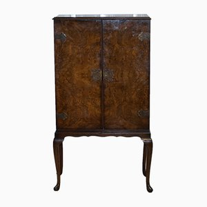 Vintage Burr Walnut Drinks Cabinet, 1930s
