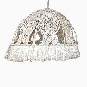 Vintage Spanish Macrame Ceiling Lamp