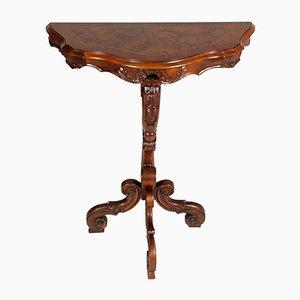 Consolle antica veneziana in legno di noce intagliato di Meroni e Fossati