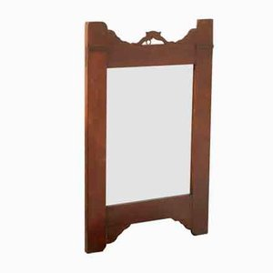 Antique Art Nouveau Walnut Mirror