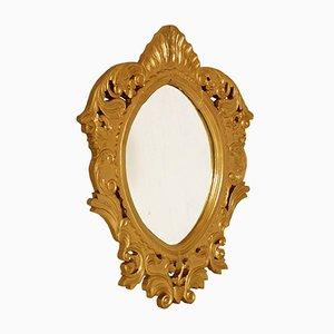 Specchio arabo barocco in legno dorato, inizio XVIII secolo