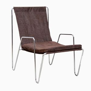 Bachelor Chair in Brown Suede by Verner Panton for Fritz Hansen, 1960s