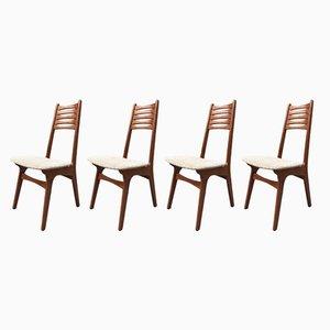 Chaises de Salon Modèle 83 Vintage en Teck par NO Møller pour Boltinge Stolefabrik, Set de 4