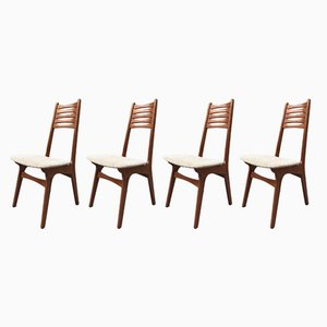 Vintage Model 83 Teak Dining Chairs by N. O. Møller for Boltinge Stolefabrik, Set of 4
